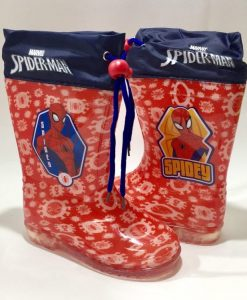 Botas de Agua Color Rojo SpiderMan