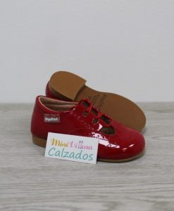 Inglesitos para Verano de Charol en Color Rojo AngelitoS