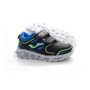 Deportivas Luces Apolo Negro-Royal Joma