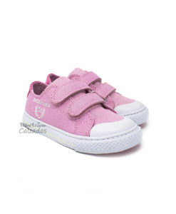 Zapatillas de Lona 4401 Denim Pink Glitter
